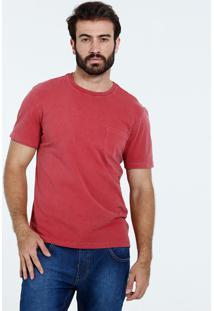 Camiseta Masculina Manga Curta Bolsinho Marisa