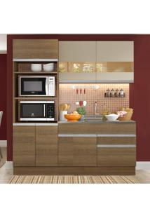 Cozinha Compacta 6 Portas Glamy Camili Rustic/Crema - Madesa
