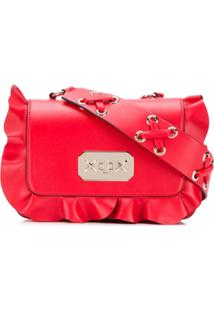 b3edd0c73 R$ 3483,00. Farfetch Bolsa Vermelha Feminina Red Valentino Couro Estampada  Transversal Ombro ...