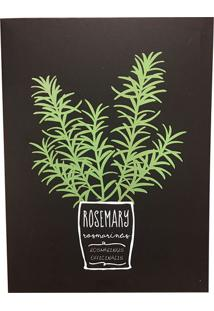 Quadro Decorativo Rosemary Herbs 40X30 - 24745