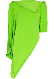 Mm6 Maison Margiela Blusa Drapeada Assimétrica - Verde