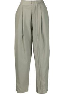 Stella Mccartney High Waist Cropped Trousers - Verde