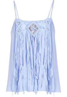 Regata Be Fashion 4Ever Macramê Azul