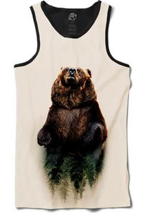 Camiseta Bsc Regata Urso Sequoia Sublimada Preto/Branco