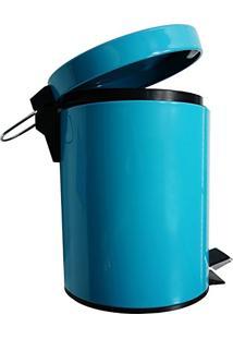 Lixeira Em Aco Inox Colorida 5 Litros - Niazitex Azul