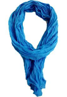 Lenço 4 Folhas Comprido Azul Claro