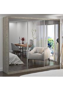 Guarda-Roupa Casal 3 Portas Com 3 Espelhos 100% Mdf 7320E3 Demolição - Foscarini
