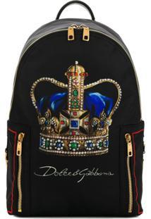 Dolce & Gabbana Crown Backpack - Preto