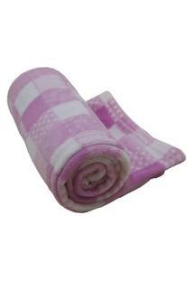 Cobertor Infantil Antialégico 1,10M X 90Cm Camesa Rosa