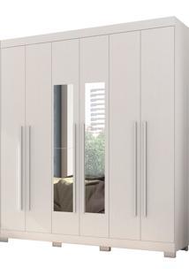 Guarda-Roupa Polo 6 Portas Branco Textura Albatroz