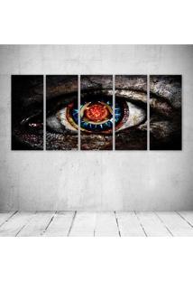 Quadro Decorativo - The Digital Art - Composto De 5 Quadros