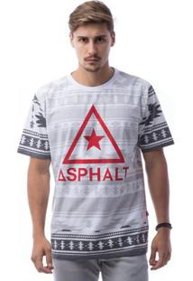 Camiseta Asphalt Ethnic Delta Masculina - Masculino-Vermelho