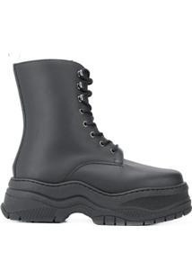 Chiara Ferragni Army Ankle Boots - Preto