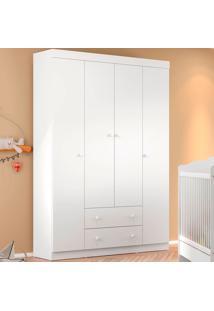 Guarda Roupa 2684 Bambolê – Multimóveis - Branco Premium