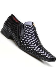 Sapato Social Masculino Calvest Jazz Em Couro Trançado - Masculino