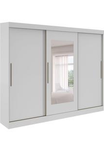 Guarda-Roupa Casal Com Espelho Montebello 3 Pt 4 Gv Branco