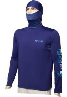 Camiseta Dryfit Ninja Fishing Co. Marinho Ufp 50+ Ref. 1022