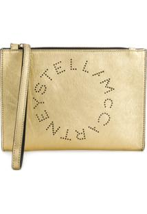 Stella Mccartney Clutch Com Logo - Metálico