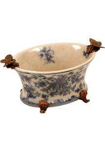 Vaso Decorativo De Porcelana E Bronze Bagan Iii
