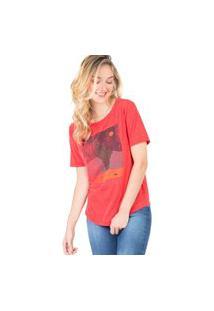 Blusa Estampada Cactos Sol Vermelha Vermelha/M