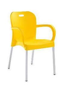 Cadeira Lyon Confort Plastico Polipropileno Amarela