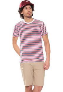 Camiseta Levi'S Classic Pocket Listrada Masculina - Masculino-Vermelho