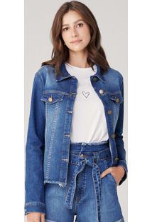 Jaqueta Feminina Em Jeans Tal Mãe Tal Filha - Azul