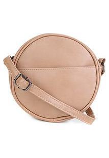Bolsa Pagani Mini Bag Redonda Feminina - Feminino-Bege