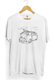 Camiseta Los Fuckers Kombi - Masculino-Branco