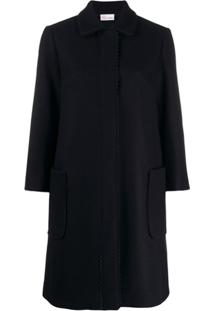 Red Valentino Zagana Ribbon Coat - Preto
