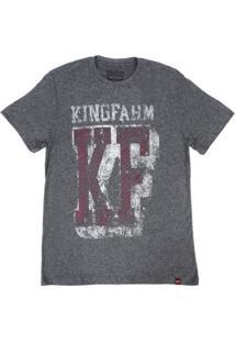 Camiseta King Farm Masculina - Masculino-Cinza