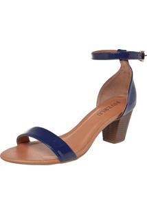 Sandália Fiveblu Verniz Azul