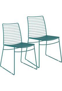 Cadeira 1712 Color Uv 02 Unidades Turquesa Carraro