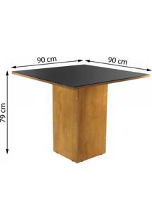 Sala De Jantar Completa Com Mesa E 4 Cadeiras Dakota Siena Móveis Ypê/Suede Animale Cru