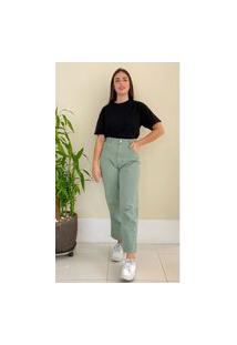 Calça Jeans Lorena - Verde Água