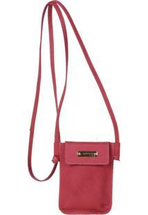 Mini Bolsa Transversal Artlux - Feminino-Vermelho