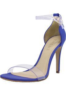 Sandália Shepz Transparente Azul