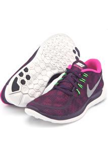 Tênis Nike Free 5.0 Print Rosa