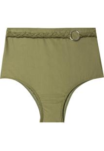Calcinha Rosa Chá Audrey Military Green Beachwear Verde Feminina (Capulet Olive, P)