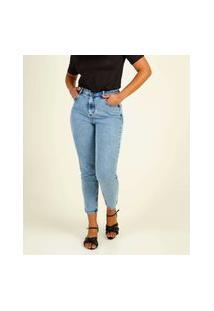 Calça Jeans Mom Feminina Bolsos Marisa
