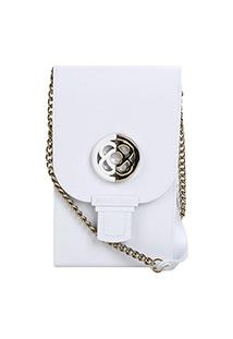 Bolsa Petite Jolie Mini Bag Phone Case Plus Feminina - Feminino-Branco