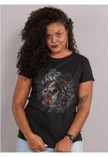 Camiseta Bandup! Guns N' Roses Firepower - Feminino-Preto