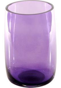 Vaso Bianco E Nero 23X15Cm Lilás - Kanui