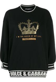 Dolce & Gabbana Suéter Mangas 3/4 - Preto