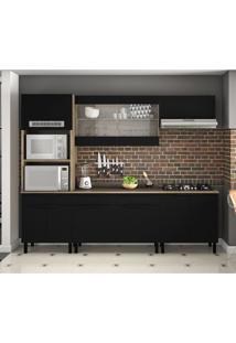 Cozinha Compacta Itamaxi 10 Pt 3 Gv Preta E Castanho