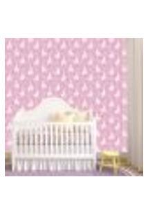 Papel De Parede Adesivo - Lhama Baby Rosa - 086Ppb