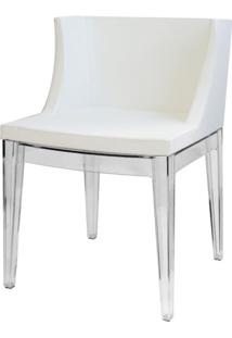 Poltrona Mademoiselle Transparente Branco - 14868 - Sun House