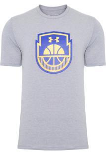 Camiseta Masculina Basketball Icon - Cinza