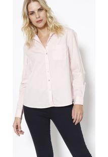 2f2f9e1f69 ... Camisa Lisa Com Bolso- Rosa Claro- Heringhering