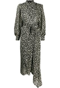 Isabel Marant Vestido Midi Com Padronagem - Preto